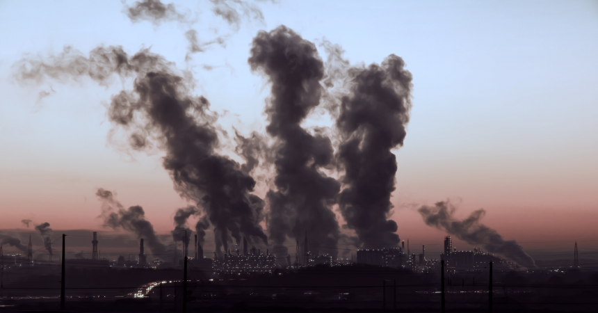 Usine polluante