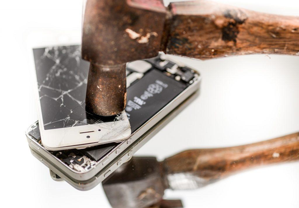 destruction smartphone